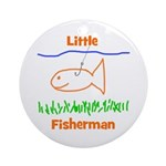 Little Fisherman Ornament (Round)