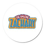 The Amazing Zackary Round Car Magnet