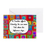 A teacher affects eternity RED Greeting Cards (Pk