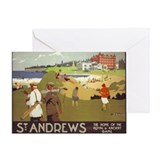 Saint Andrews, Golf, Vintage Poster Greeting Card
