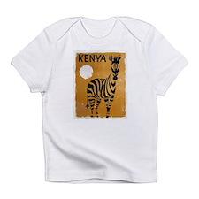 Kenya, Zebra, Vintage Poster Infant T-Shirt