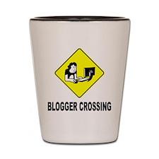 Blogger Crossing Shot Glass