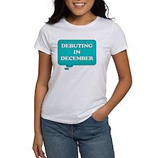 DEBUTING IN DECEMBER MATERNITY TALK BUBBLE T-Shirt