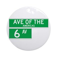 6th Ave., New York - USA Ornament (Round)