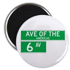 """6th Ave., New York - USA 2.25"""" Magnet (10 pack)"""
