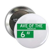 """6th Ave., New York - USA 2.25"""" Button (100 pack)"""