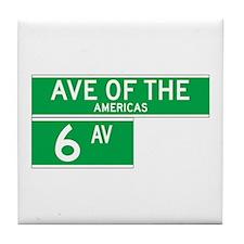 6th Ave., New York - USA Tile Coaster
