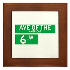 6th Ave., New York - USA Framed Tile