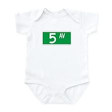 5th Ave., New York - USA Infant Bodysuit