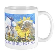 Norwegian Fjords Horses Mug