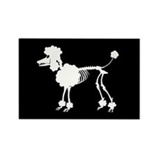 Poodle Skeleton Rectangle Magnet