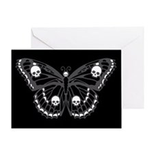 Gothic Skull Butterfly Greeting Card