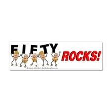 Fifty Rocks Car Magnet 10 x 3