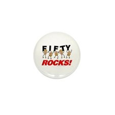 Fifty Rocks Mini Button (10 pack)
