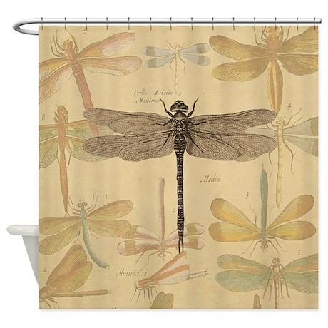 Http Www Cafepress Com Dragonfly Vintage Shower Curtain 854059333