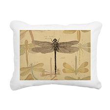 Dragonfly Vintage Rectangular Canvas Pillow
