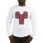 Red Quetzalcoatl Long Sleeve T-Shirt
