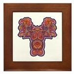 Red Quetzalcoatl Framed Tile