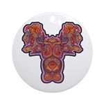 Red Quetzalcoatl Ornament (Round)