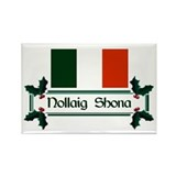 Irish Nollaig Shona Rectangle Magnet