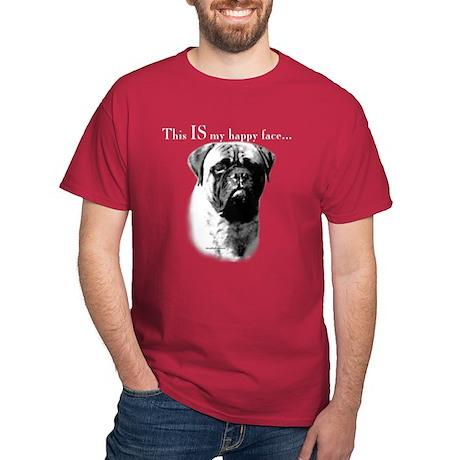 Bullmastiff Happy Face Dark T-Shirt
