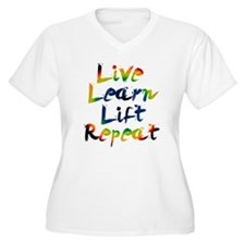 Live Learn Lift Plus Size T-Shirt