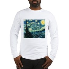 Starry Night Vincent Van Gogh Long Sleeve T-Shirt