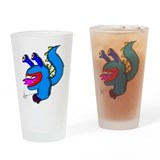 Alien Monster Drinking Glass