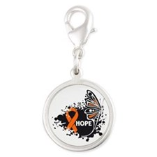 RSD Hope Butterfly Silver Round Charm