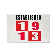 Established 1913 Rectangle Magnet (100 pack)