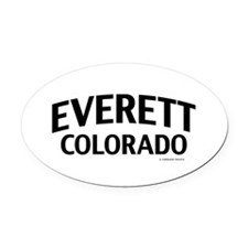 Everett Colorado Oval Car Magnet
