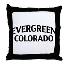 Evergreen Colorado Throw Pillow