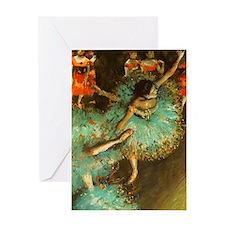 Degas Dancer Green Ballet Impressionist Greeting C