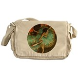 degas green dancer-round Messenger Bag