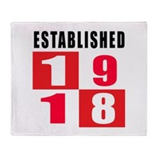 Established 1918 Throw Blanket