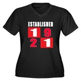Established 1921 Women's Plus Size V-Neck Dark T-S