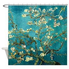 Van Gogh Almond Blossoms Tree Shower Curtain