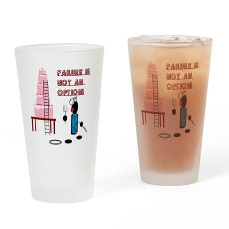 Defeat the Cake Drinking Glass