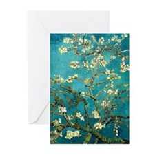 Van Gogh Almond Blossoms Tree Greeting Cards (Pk o