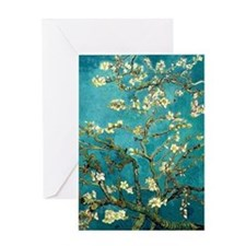 Van Gogh Almond Blossoms Tree Greeting Card
