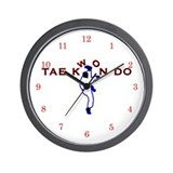 TKD Kicks Wall Clock