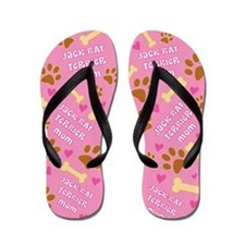 Jack Rat Terrier Mom Gift Flip Flops