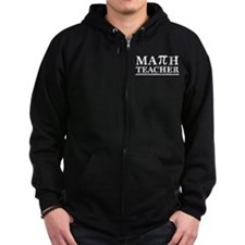 Math Teacher Zip Hoody