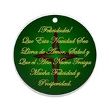 Spanish Christmas Holiday Ornament Navidad (Round)