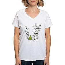 all_creatures_buddha_green_white_text T-Shirt