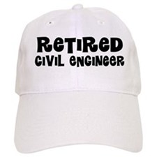 Retired Civil Engineer Gift Baseball Baseball Cap