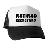 Retired Secretary Gift Trucker Hat