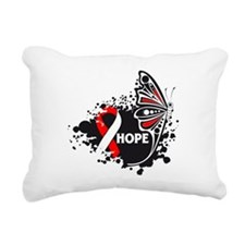 Aplastic Anemia Butterfly Rectangular Canvas Pillo