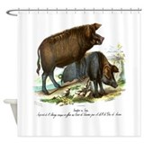 PL1 Pigs Shower Curtain