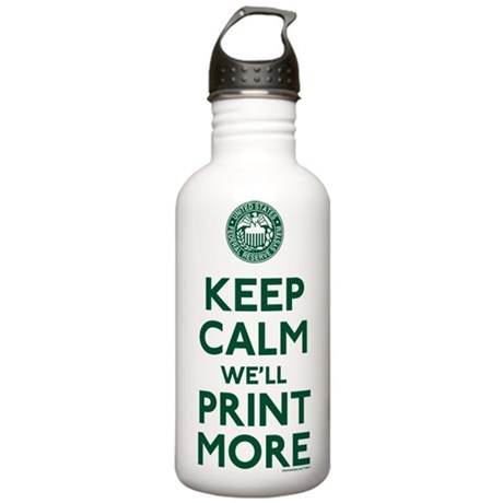 Keep Calm Fed Parody Water Bottle